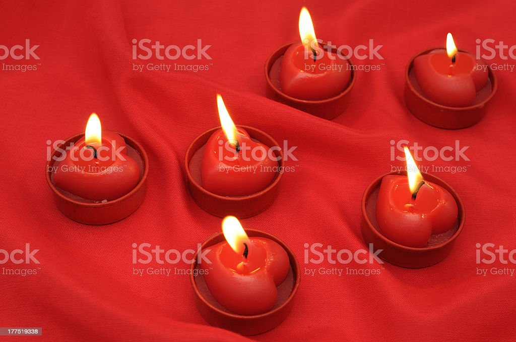 Flaming hearts royalty-free stock photo