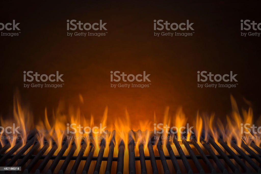 Flaming Hot Barbecue Grill stock photo