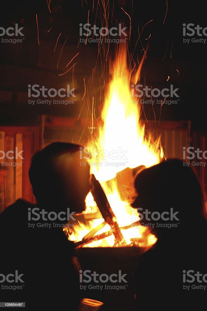 Flaming love royalty-free stock photo