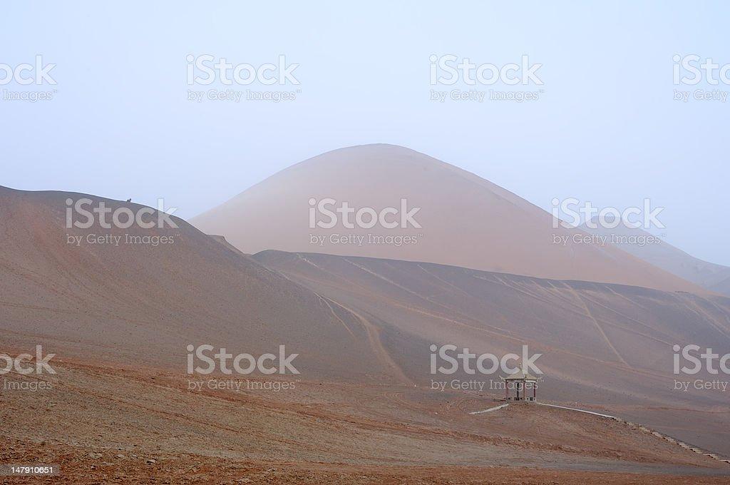 Flaming Mountain stock photo