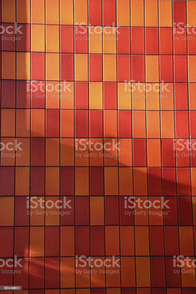 flaming red tile royalty-free stock photo
