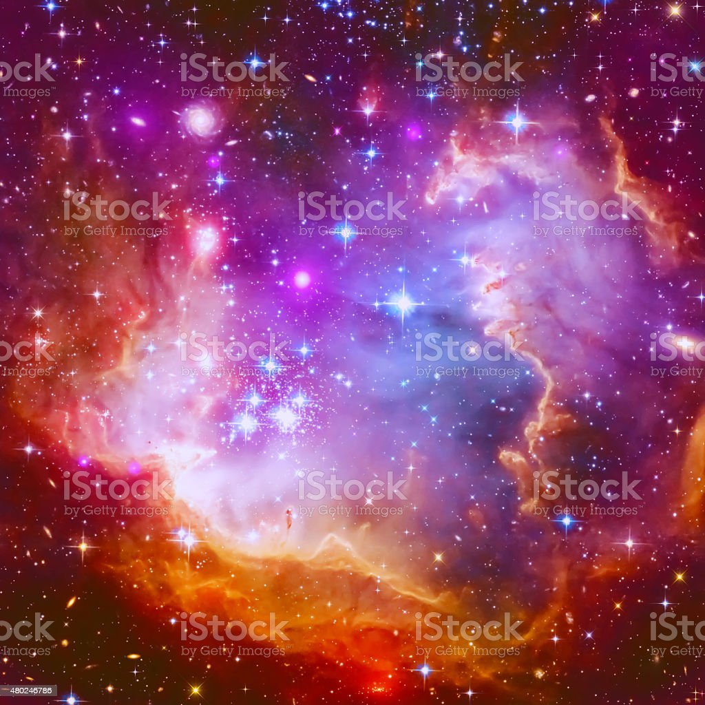 Flaming Star Nebula stock photo