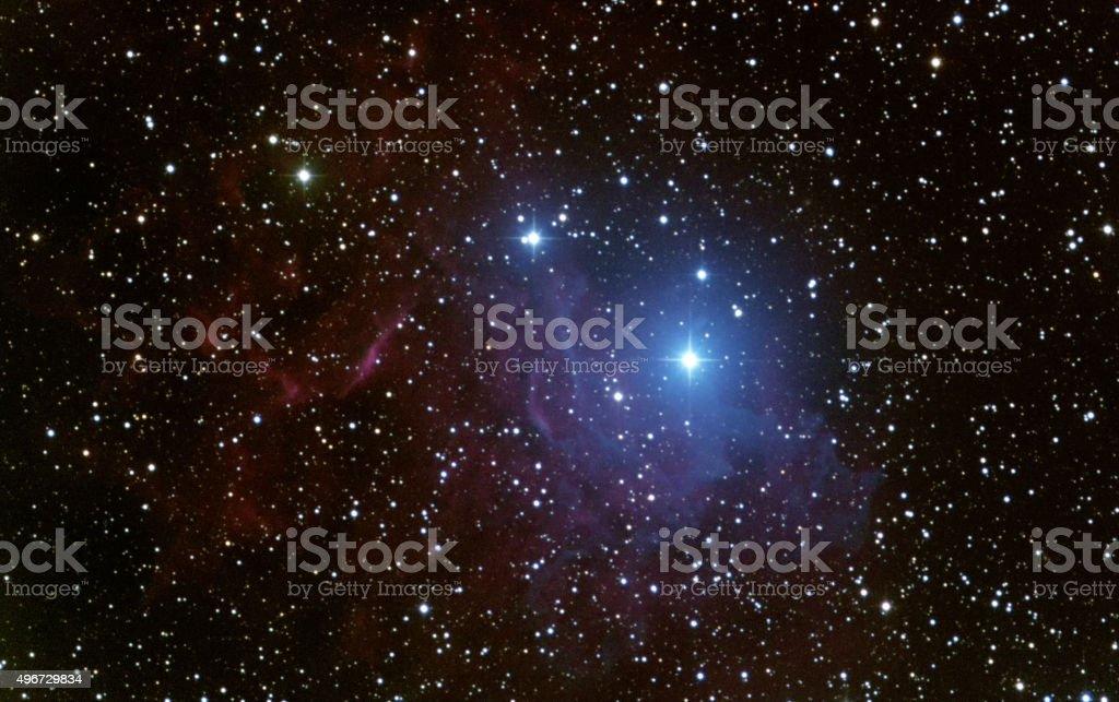 Flaming star nebula (IC405) stock photo