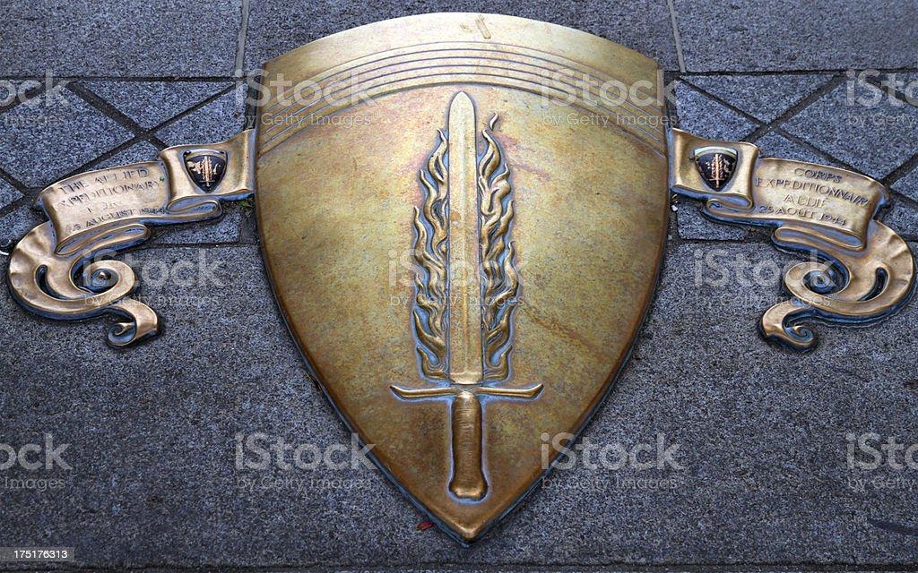 Flaming Sword royalty-free stock photo