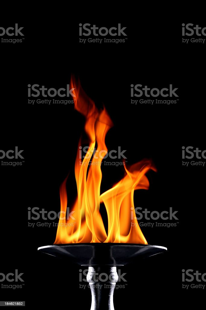 flaming torch stock photo