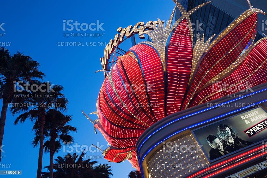 Flamingo Las Vegas stock photo