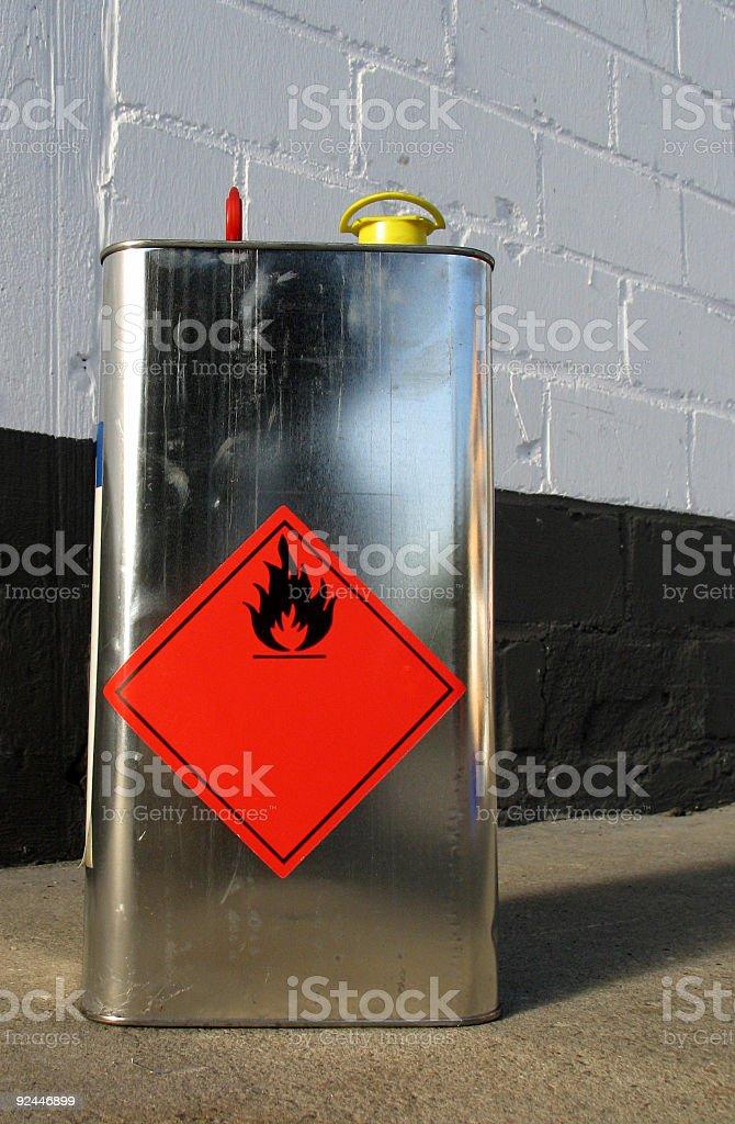 Flammable Liquid stock photo