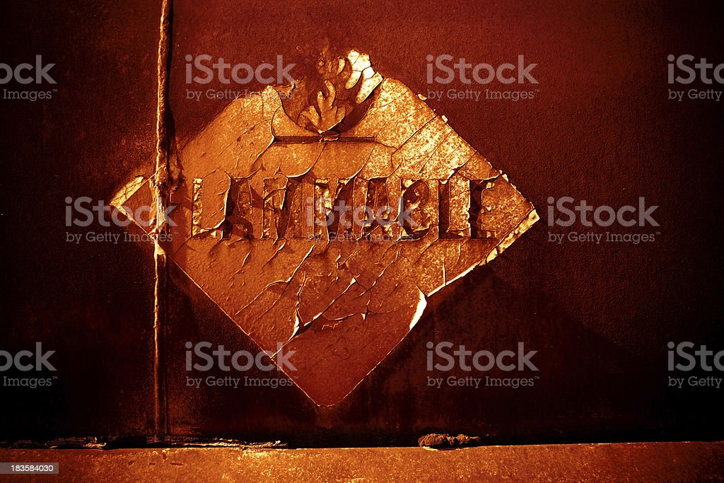 Flammable royalty-free stock photo
