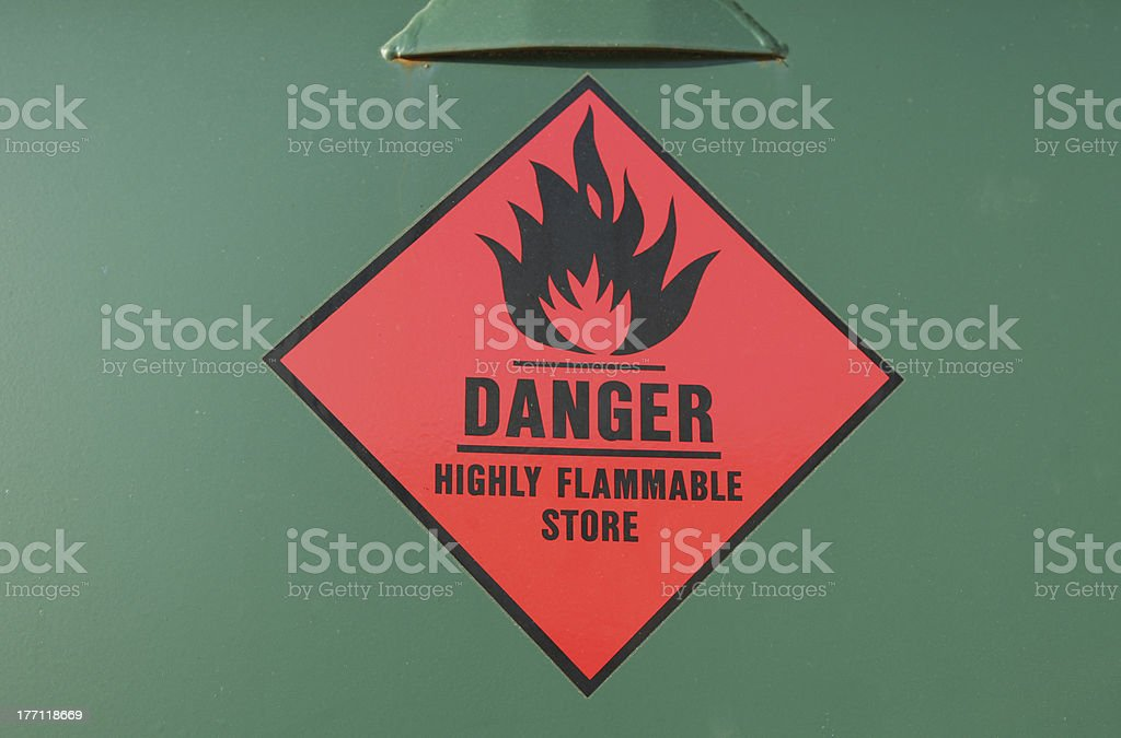 Flammable Store stock photo