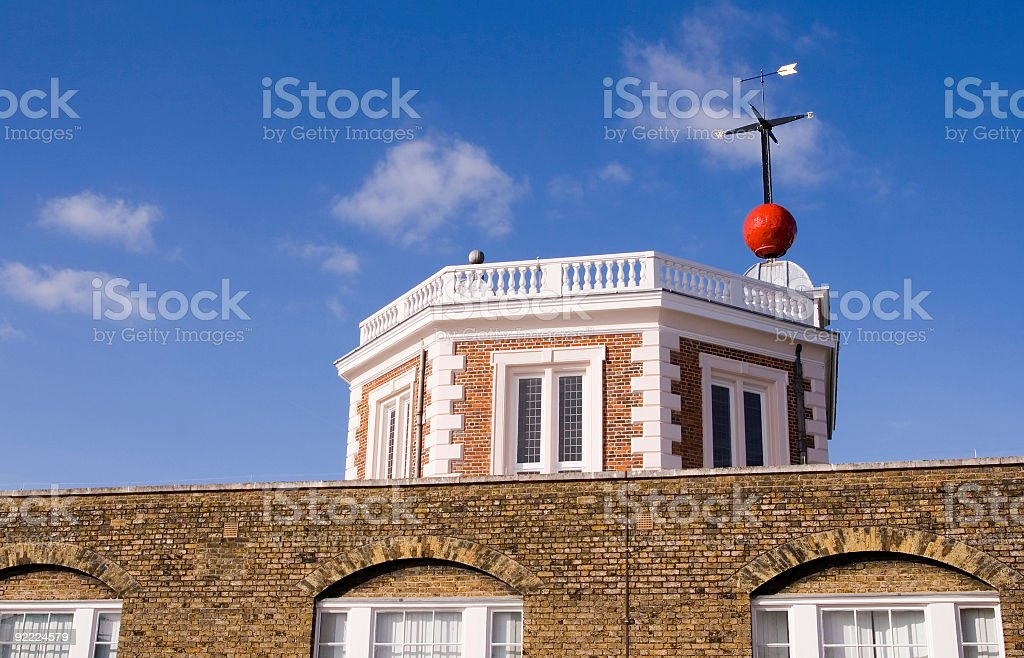 Flamsteed House at Greenwich Royal Observatory stock photo