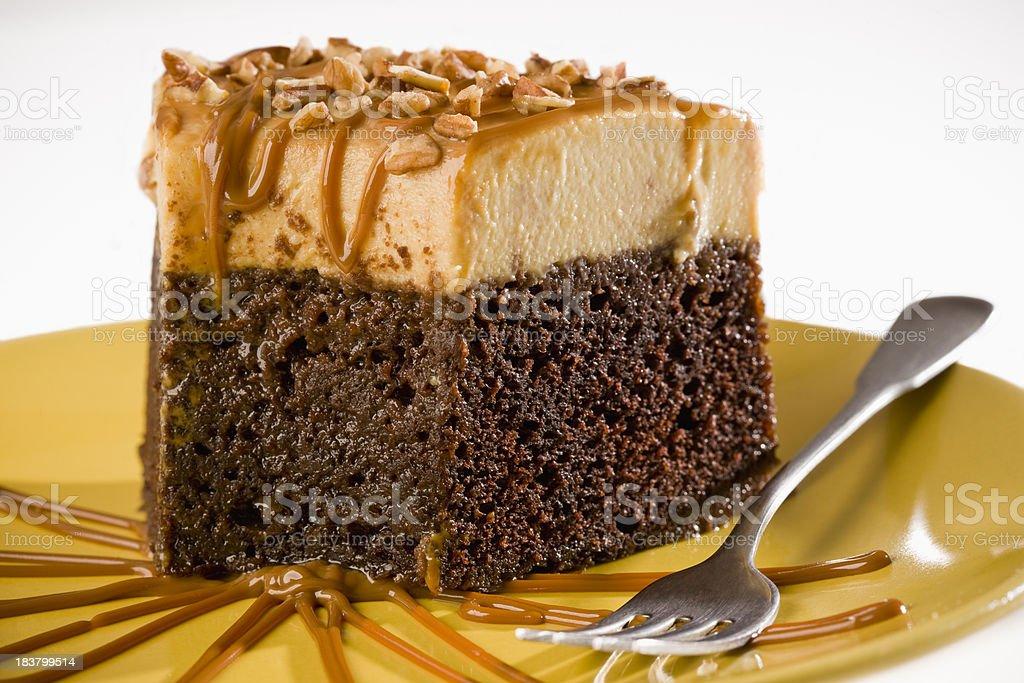 Flan Cake stock photo