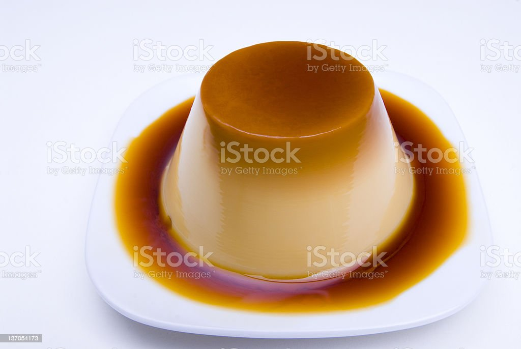 Flan Casero (creme caramel) stock photo