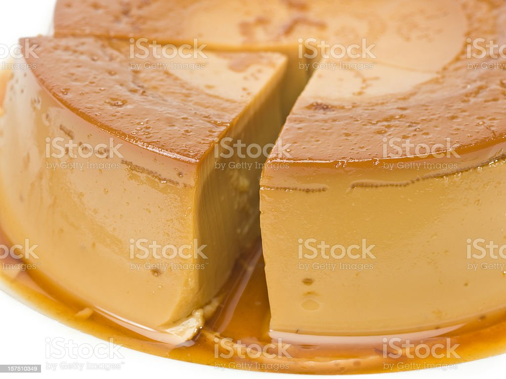 Flan (creme caramel) stock photo