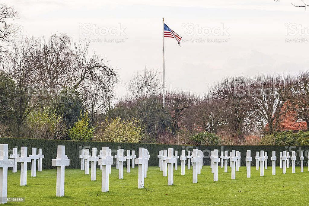 Flanders field American cemetery in Waregem Belgium stock photo