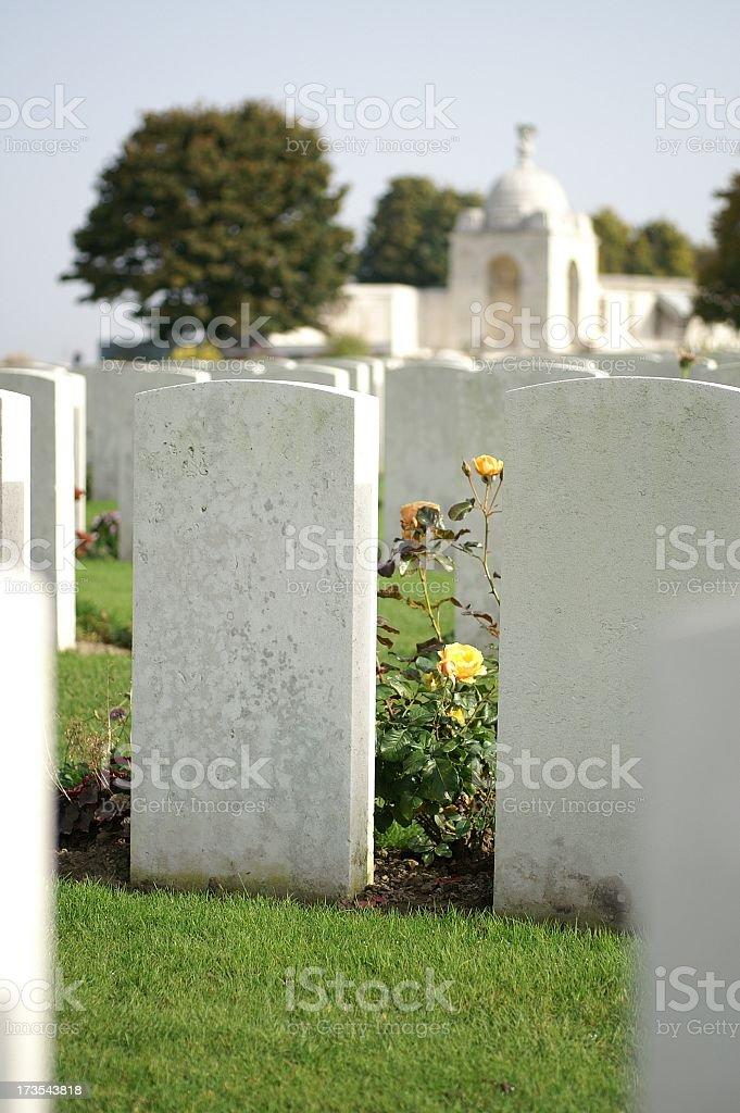 Flanders War Graves royalty-free stock photo