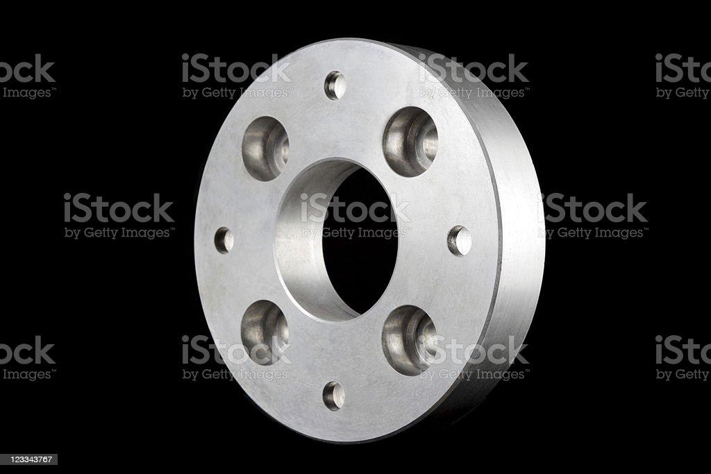 flange (machine part) 3D isometric view stock photo