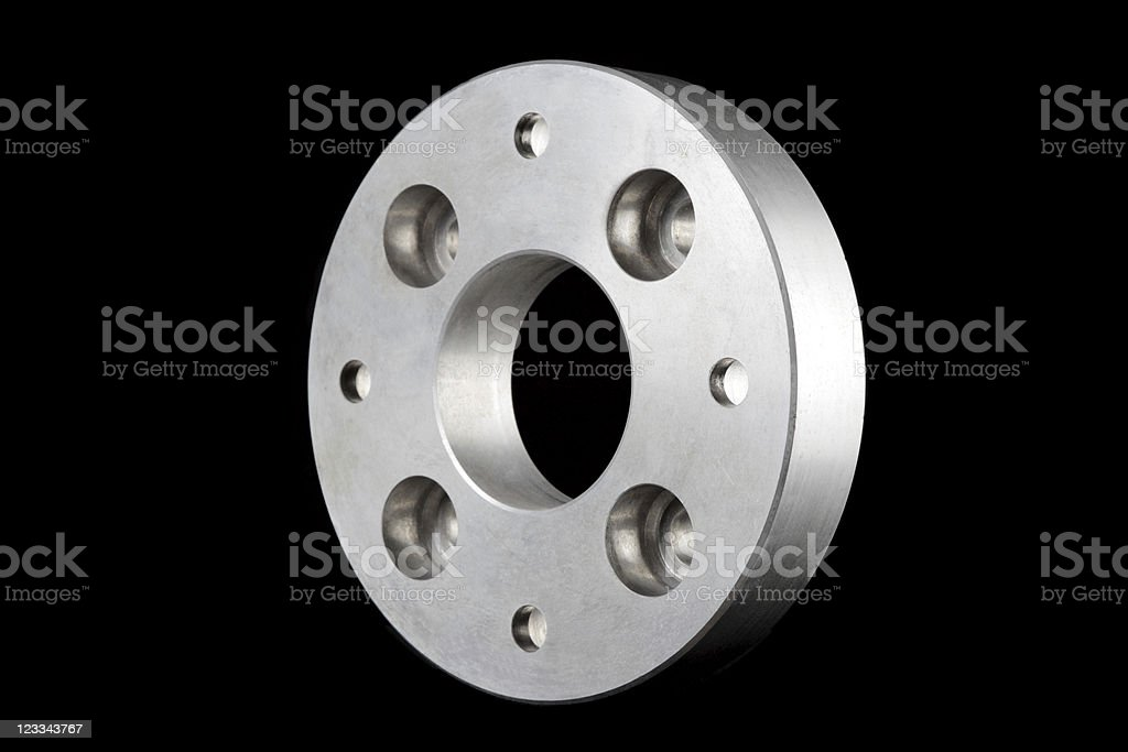flange (machine part) 3D isometric view stock photo