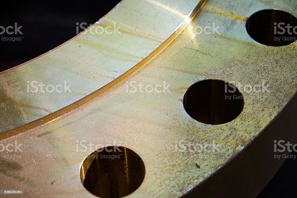 flange detail stock photo