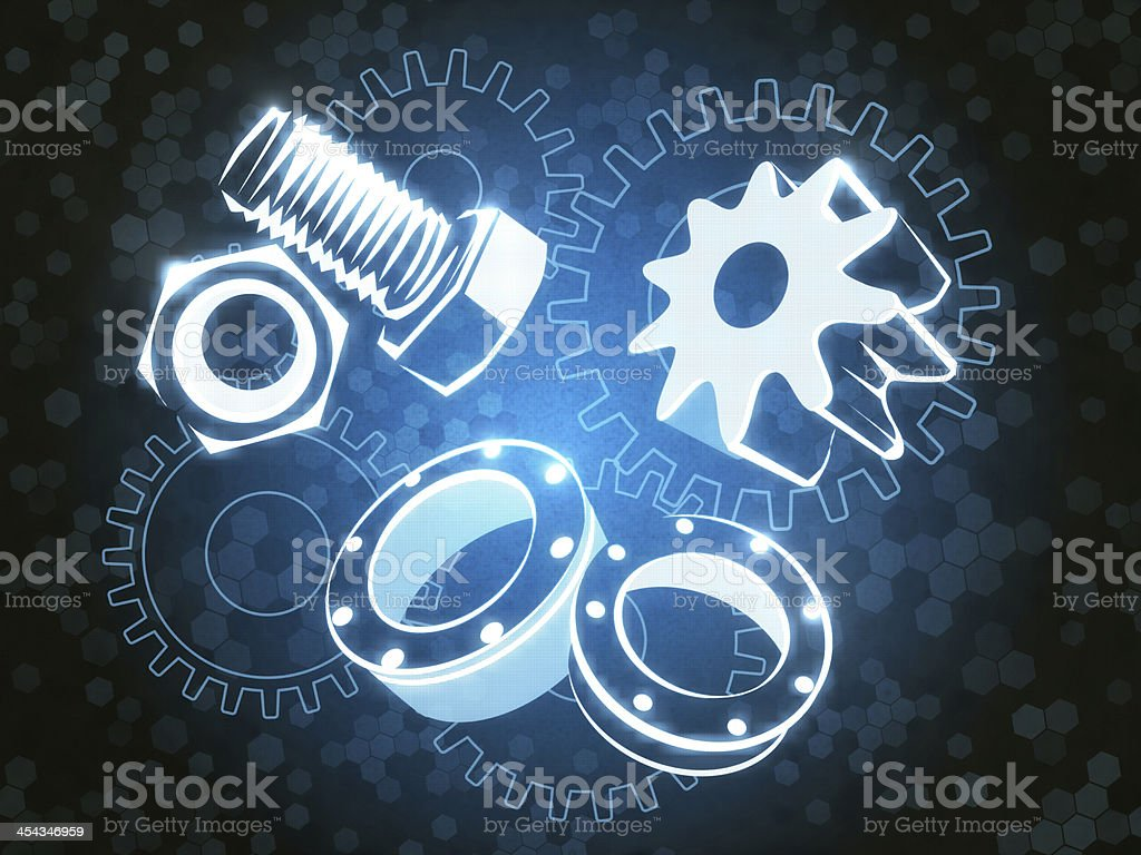 Flange Fixing royalty-free stock photo