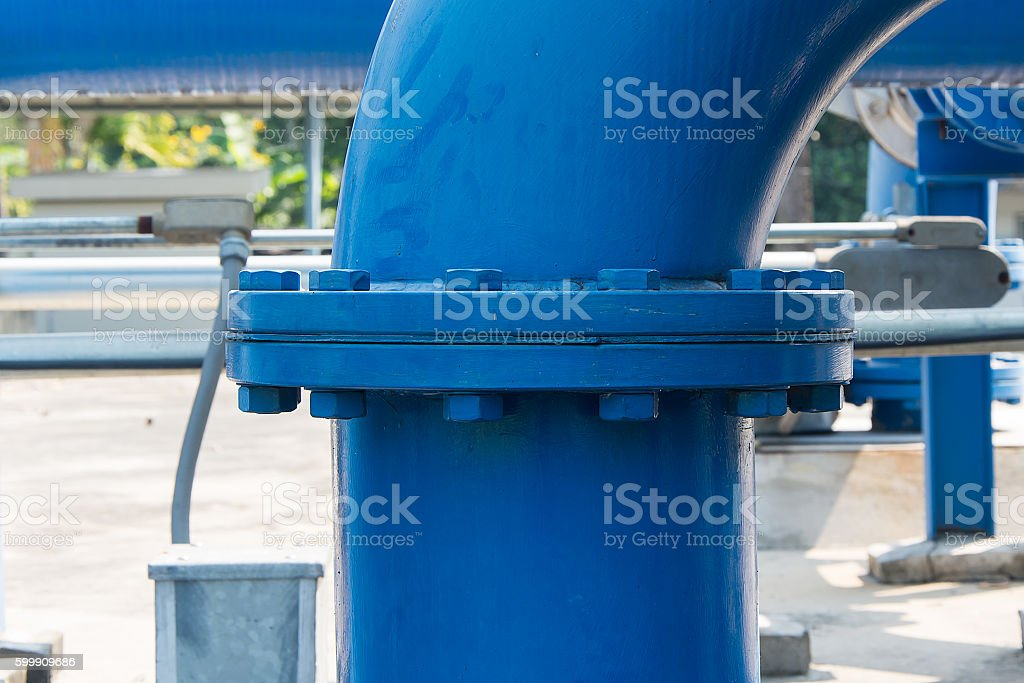 Flange joints stock photo