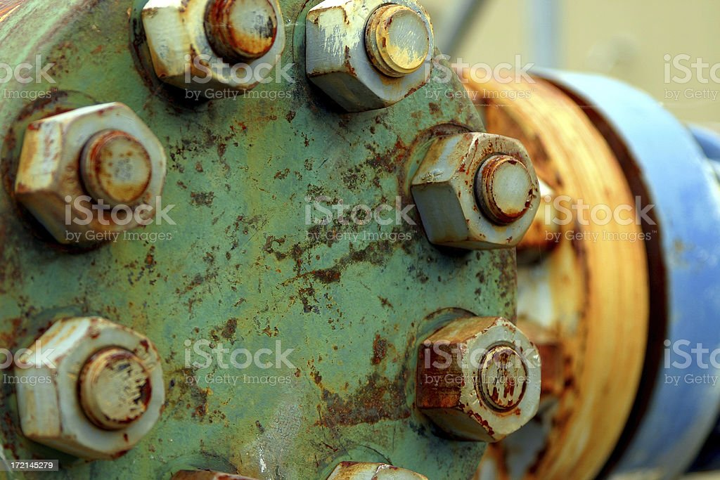 Flange stock photo