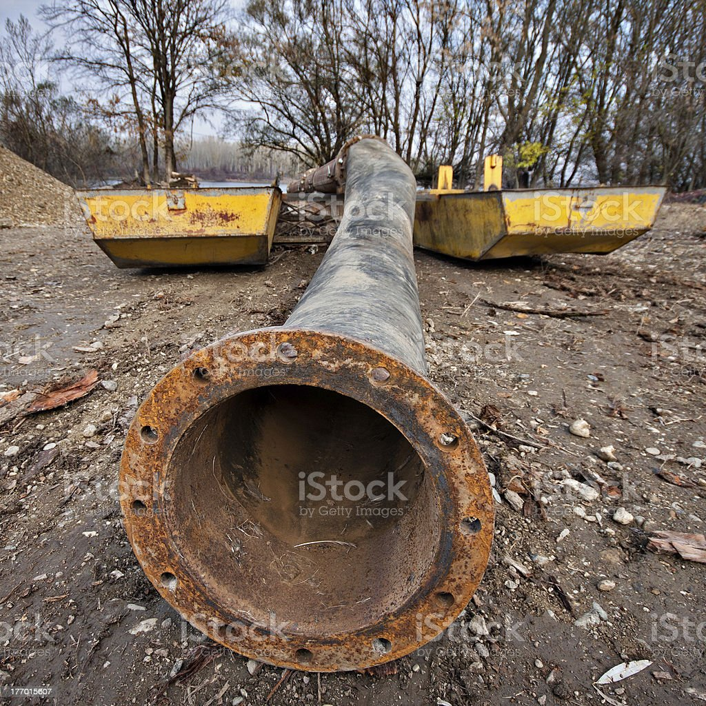 flanged pipe royalty-free stock photo