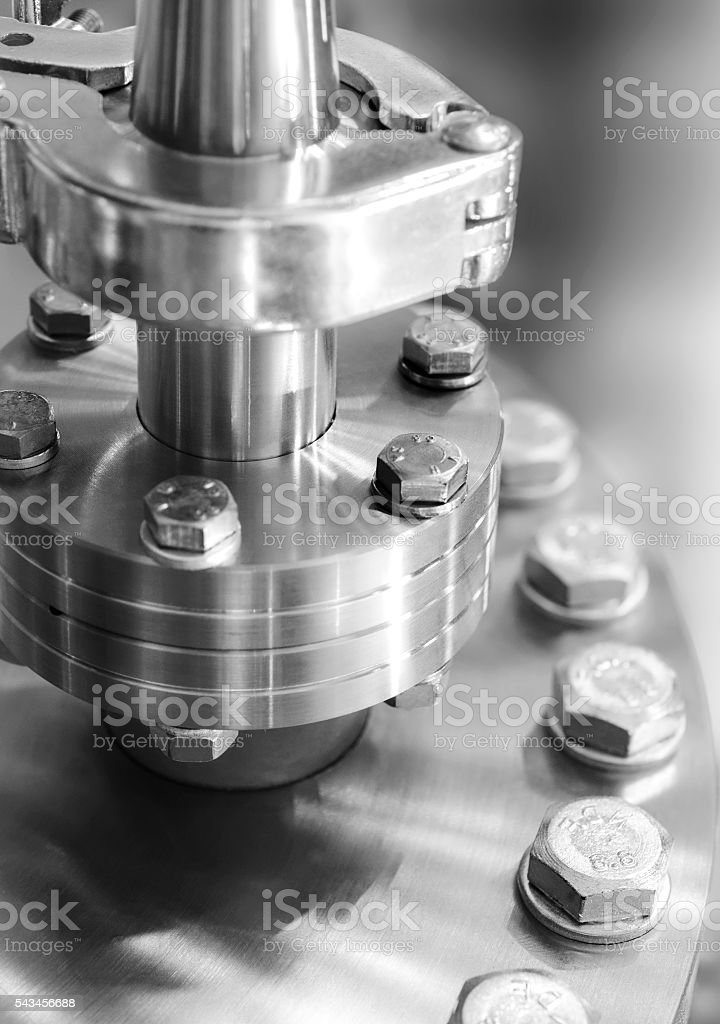 Flanged vacuum equipment. stock photo
