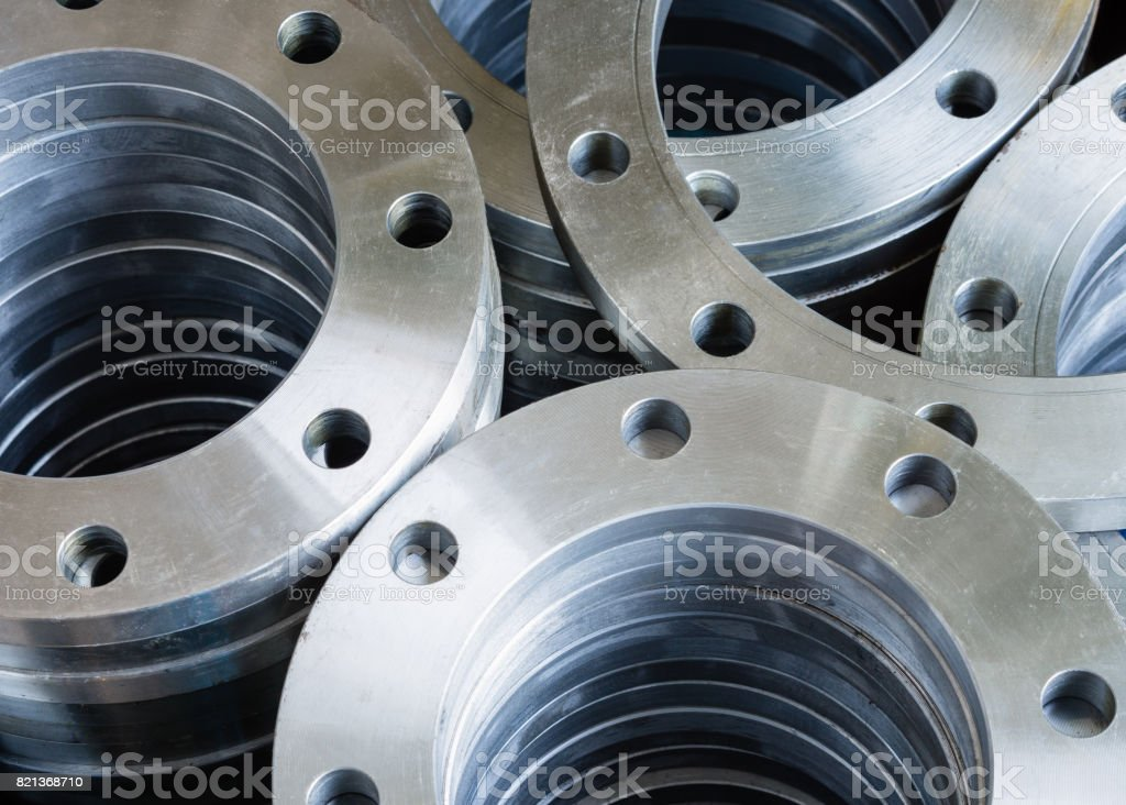 Flanges stock photo