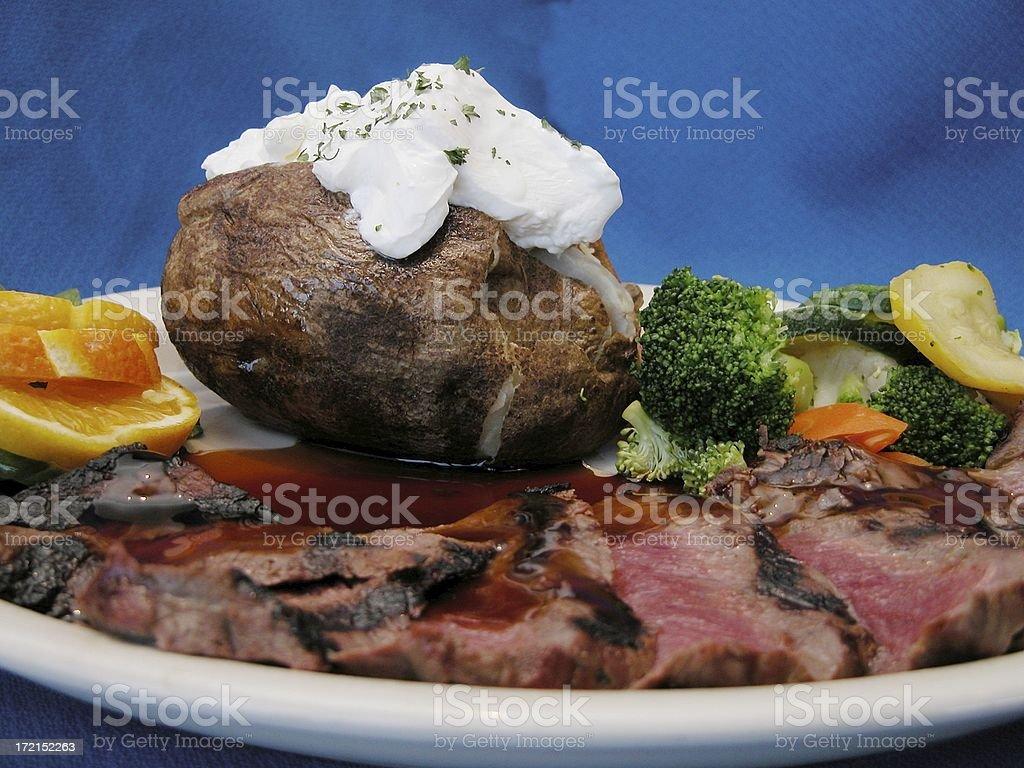 flank steak dinner royalty-free stock photo