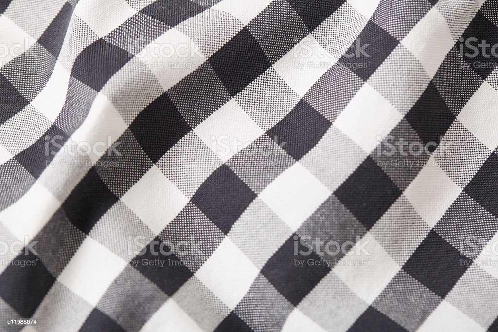 Flannel Shirt Detail stock photo