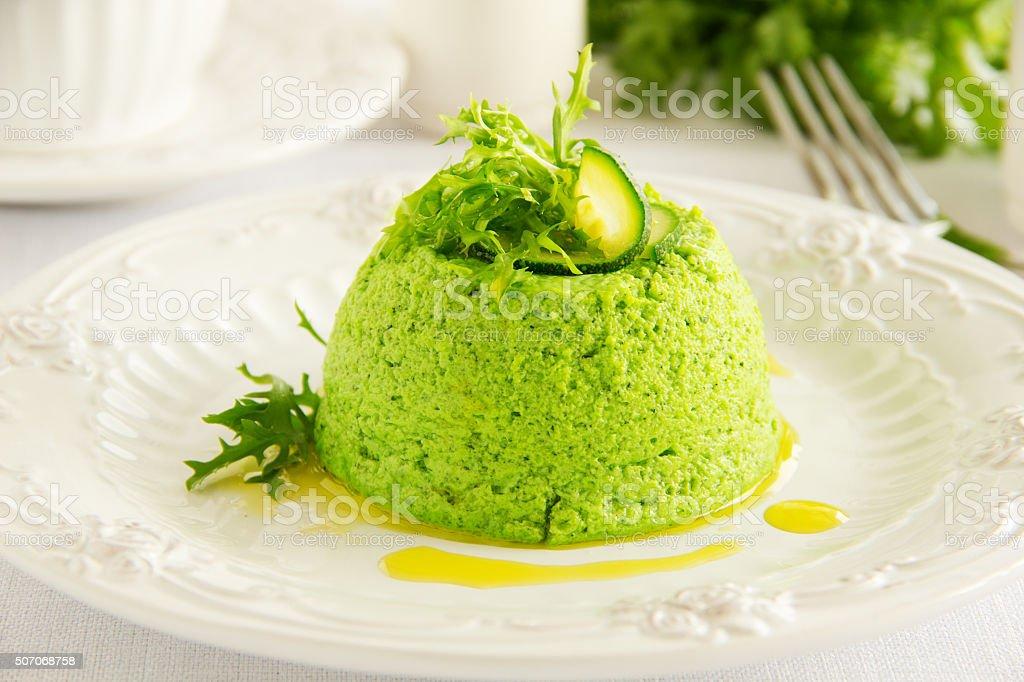 Flan-zucchini cake. stock photo