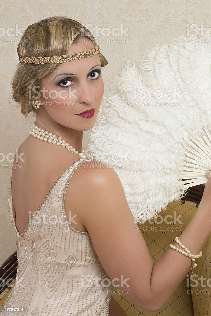 Flapper dress and headband royalty-free stock photo