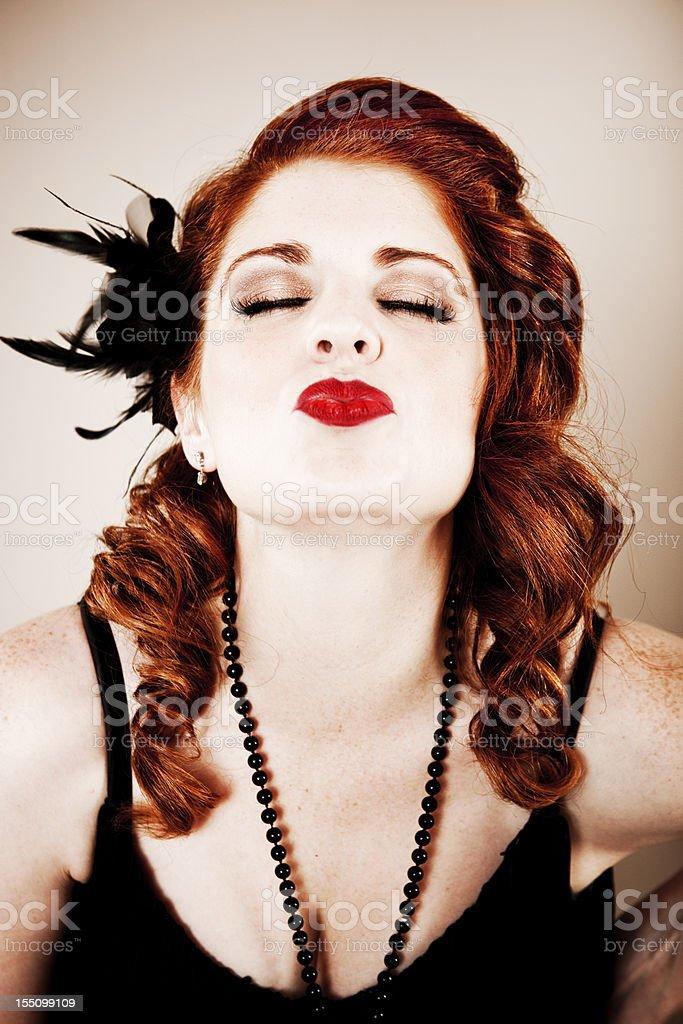 Flapper Girl Series: Kiss royalty-free stock photo