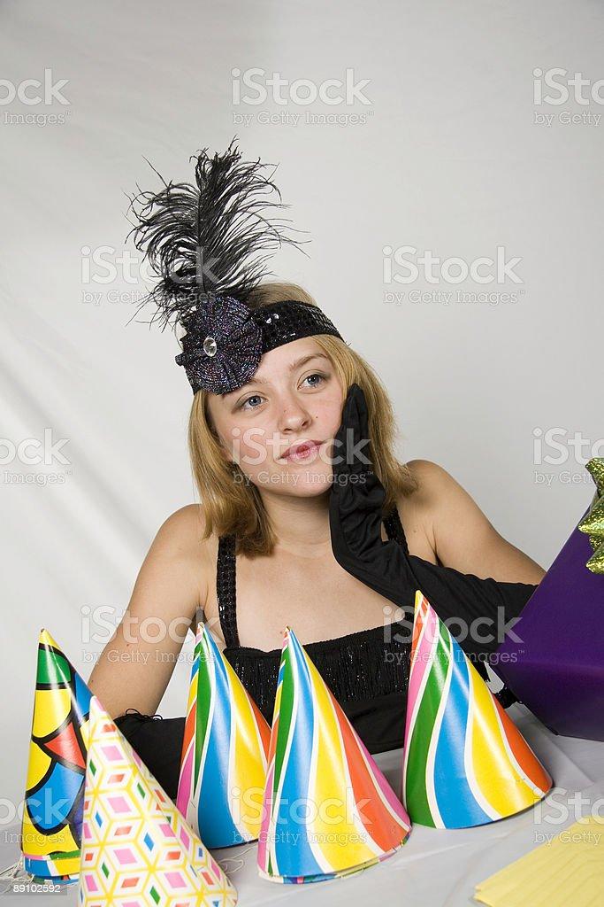 Flapper Thinking royalty-free stock photo