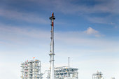 flaring of associated gas at oil refinery