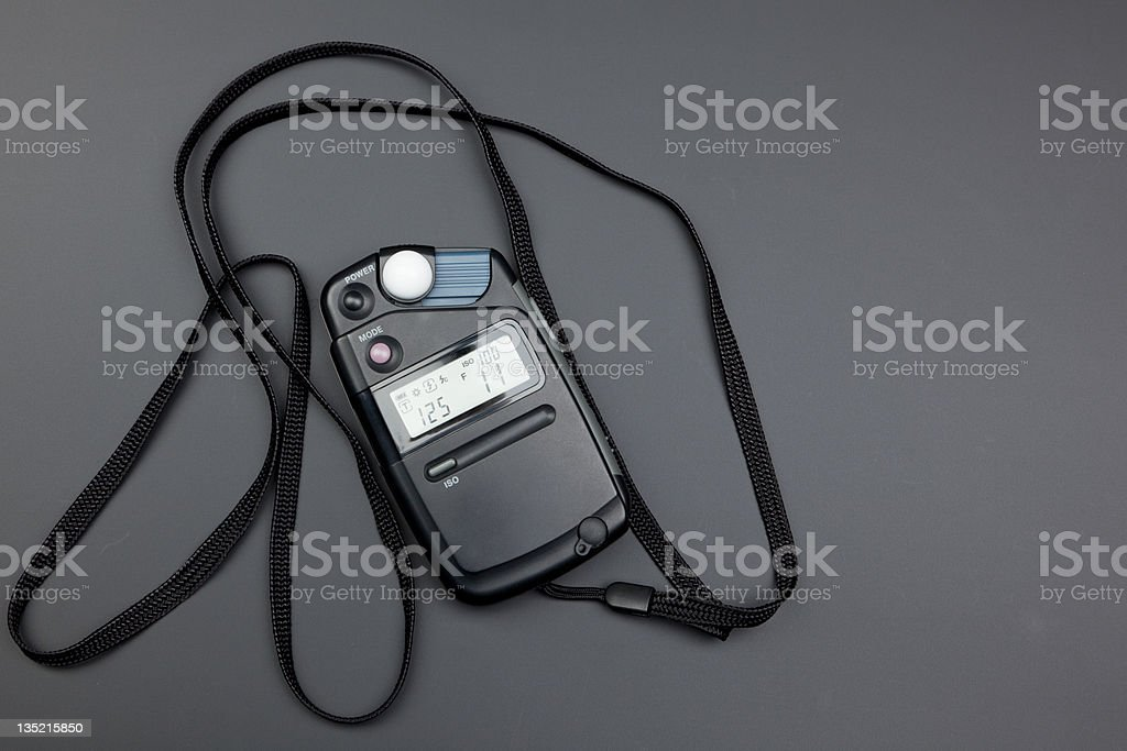 Flash and Light Meter stock photo