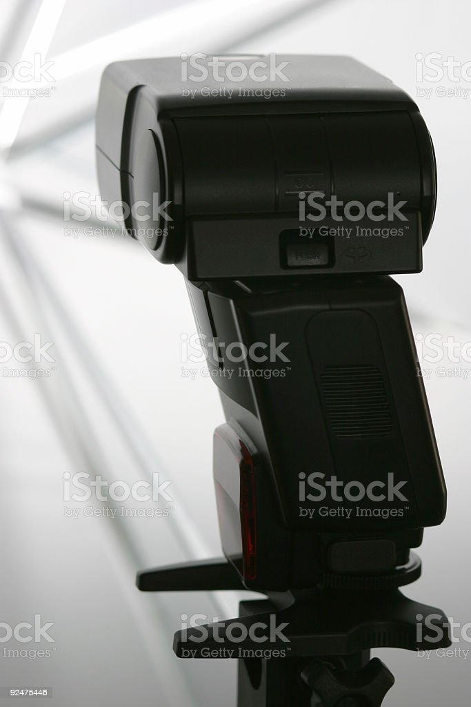 Flash and umbrella royalty-free stock photo