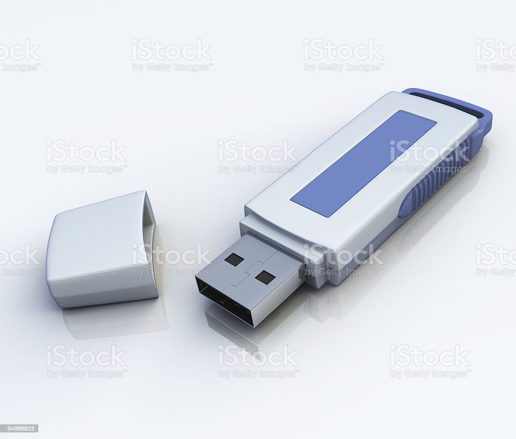 USB flash card royalty-free stock photo