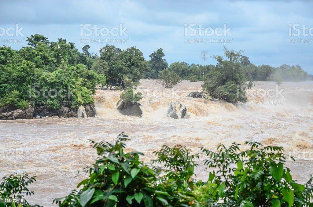 Flash flood stock photo