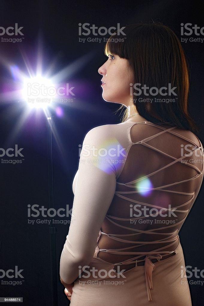 Flash girl royalty-free stock photo