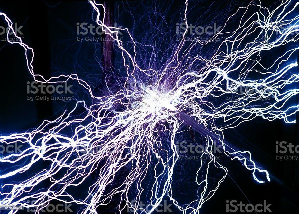 flash - Blitzeinschlag und Stromentladung stock photo