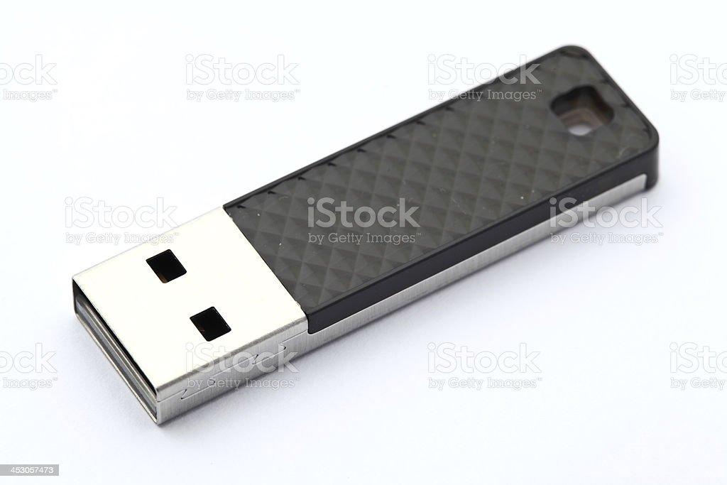 Flash memory stick on white background stock photo