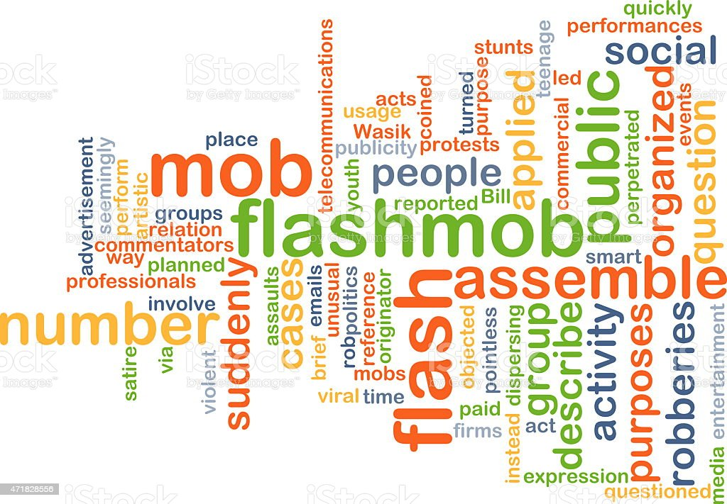 Flash mob background concept stock photo