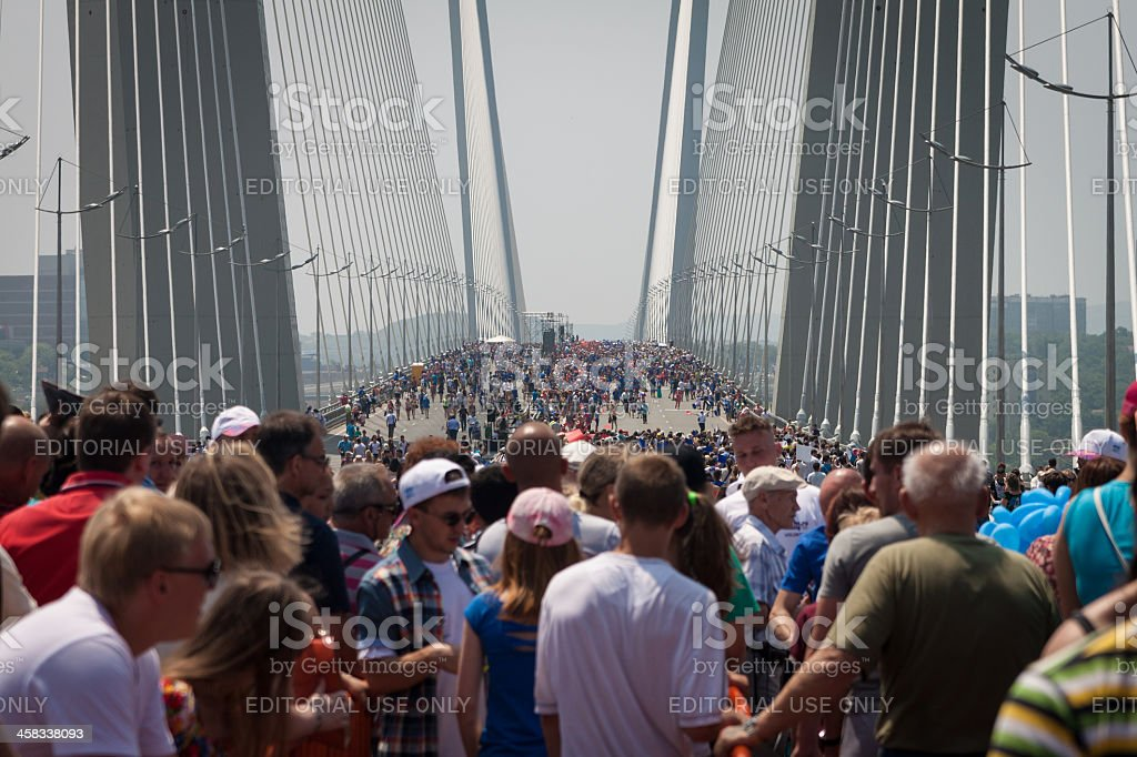 Flash mob 'I love Vladivostok'. royalty-free stock photo