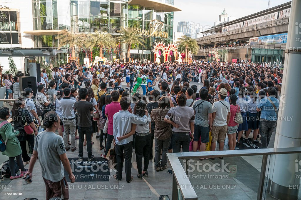 Flash Mob stock photo
