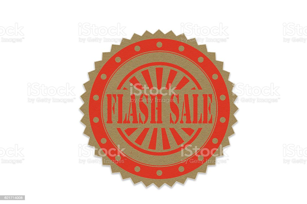 flash sale  stamp on paper stock photo