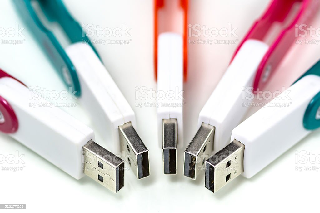 USB flash storage memory stock photo