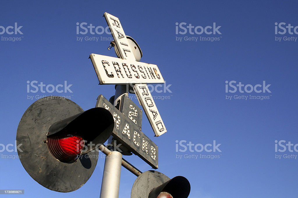 Flashing Crossing stock photo