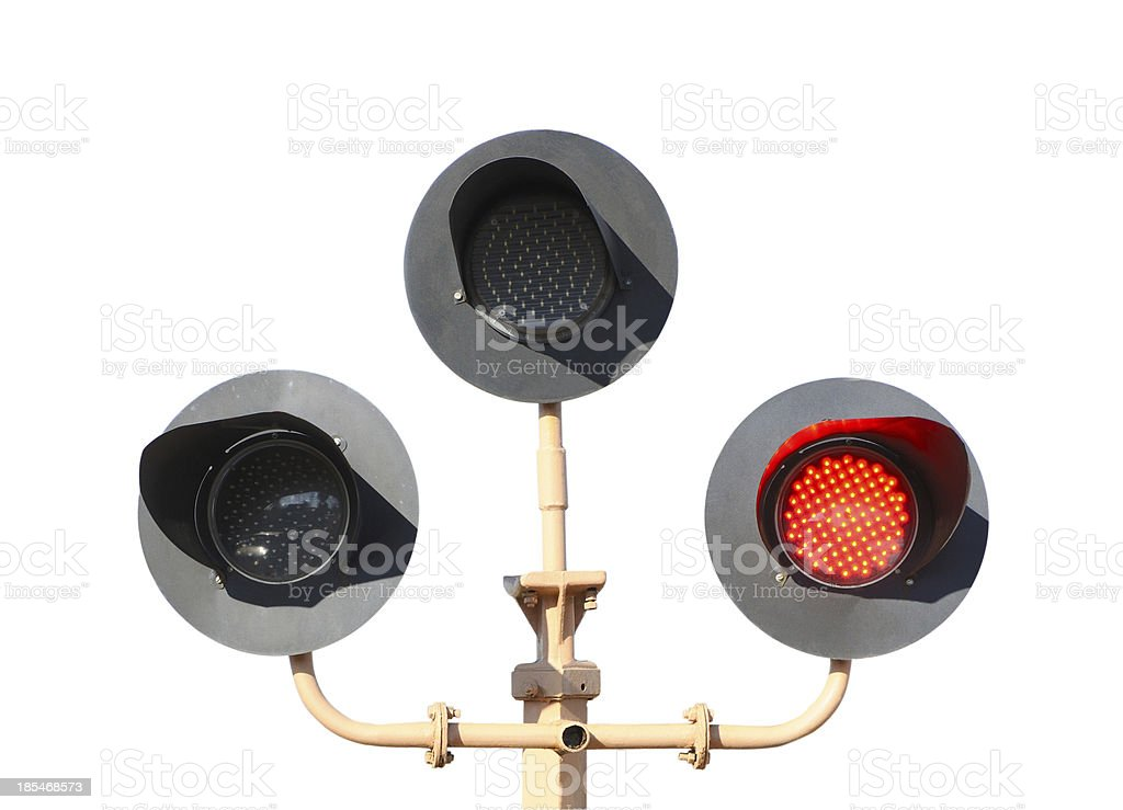 Flashing crossing royalty-free stock photo