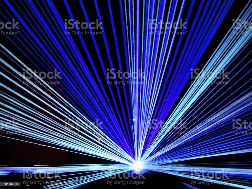 Flashing Disco lights stock photo